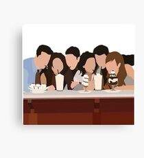 Friends minimalism Canvas Print