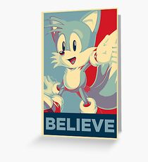 [V1] Tails (Sonic Mania) Hope Poster-Style Greeting Card