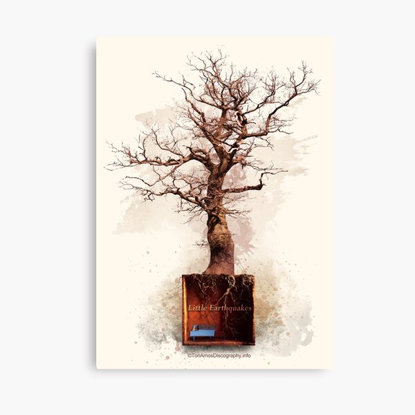 Little Earthquakes Design (Version 2) by ToriAmosDiscography.info Canvas Print