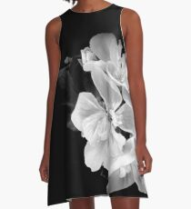 Geranium in black and white A-Line Dress