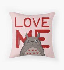 Valentine's Totoro Throw Pillow