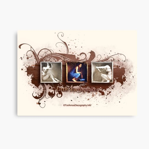 Little Earthquakes Design from ToriAmosDiscography.info Canvas Print