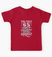 Classic Vintage Retro 65th Birthday 65 Year Old Gift Kids Clothes
