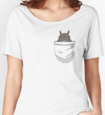 Creepy Pocket Totoro Women's Relaxed Fit T-Shirt