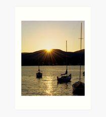 Sunset in the Berkshires Art Print