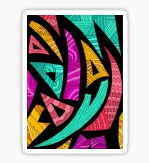 Shapes and patterns Sticker