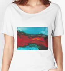 Abstract seascape in alcohol inks Women's Relaxed Fit T-Shirt