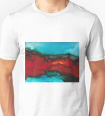Abstract seascape in alcohol inks T-Shirt