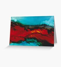 Abstract seascape in alcohol inks Greeting Card