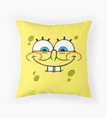 SpongeBob - Excited Face  Throw Pillow