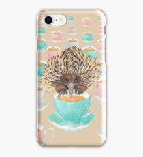 Animal Echidna tea iPhone Case/Skin