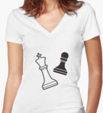 CHESS SHIRT Women's Fitted V-Neck T-Shirt