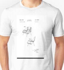 Eero Saarinen - Womb Chair - Patent Artwork Unisex T-Shirt