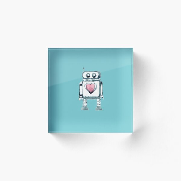 Lovely Little Robot Acrylic Block