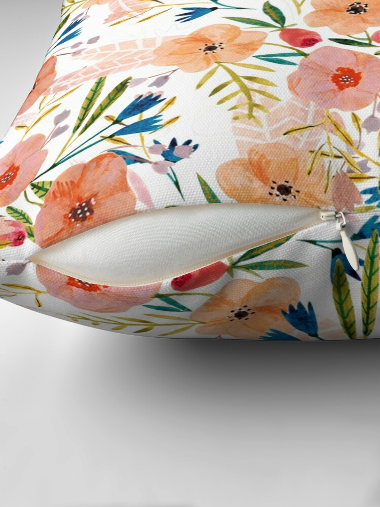 Alternate view of Floral Dance Throw Pillow