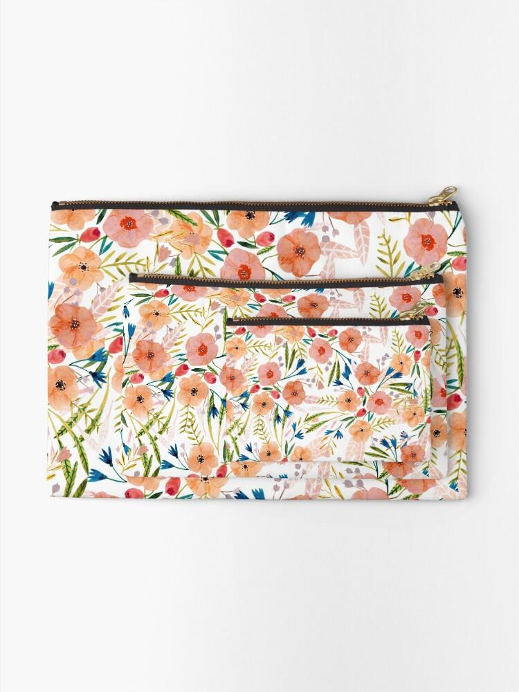 Alternate view of Floral Dance Zipper Pouch