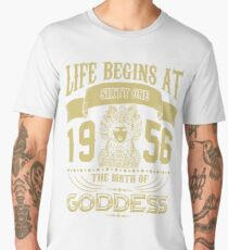 Life begins at Sixty One 1956 The birth of Goddess! Men's Premium T-Shirt