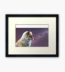 Galaxy Fox Framed Print