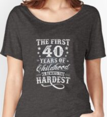 Classic Vintage Retro 40th Birthday 40 Year Old Gift Women's Relaxed Fit T-Shirt