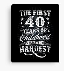Classic Vintage Retro 40th Birthday 40 Year Old Gift Canvas Print