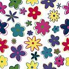 Retro flowers by Heather Hood