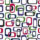 Seamless retro squares by Heather Hood