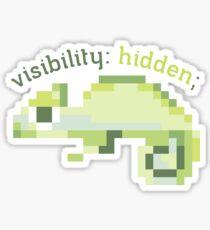 CSS 8-bit Chameleon - Programming Sticker
