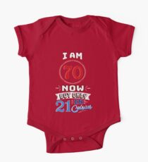 Funny 70th Birthday Gag Gift Funny 70 Year Old Kids Clothes