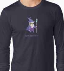 8-bit Open Source Sorcerer - Programming Long Sleeve T-Shirt