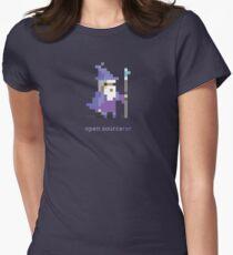8-bit Open Source Sorcerer - Programming Women's Fitted T-Shirt