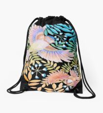 Birds of Paradise Drawstring Bag