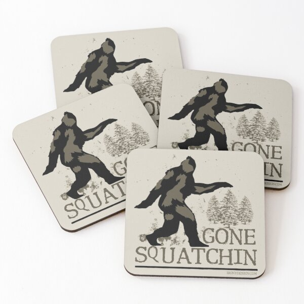 Gone Squatchin Coasters (Set of 4)