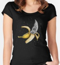Moon Banana! Women's Fitted Scoop T-Shirt