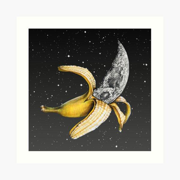 Moon Banana! Art Print