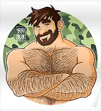 ADAM LIKES CROSSING ARMS - CAMOUFLAGE Poster