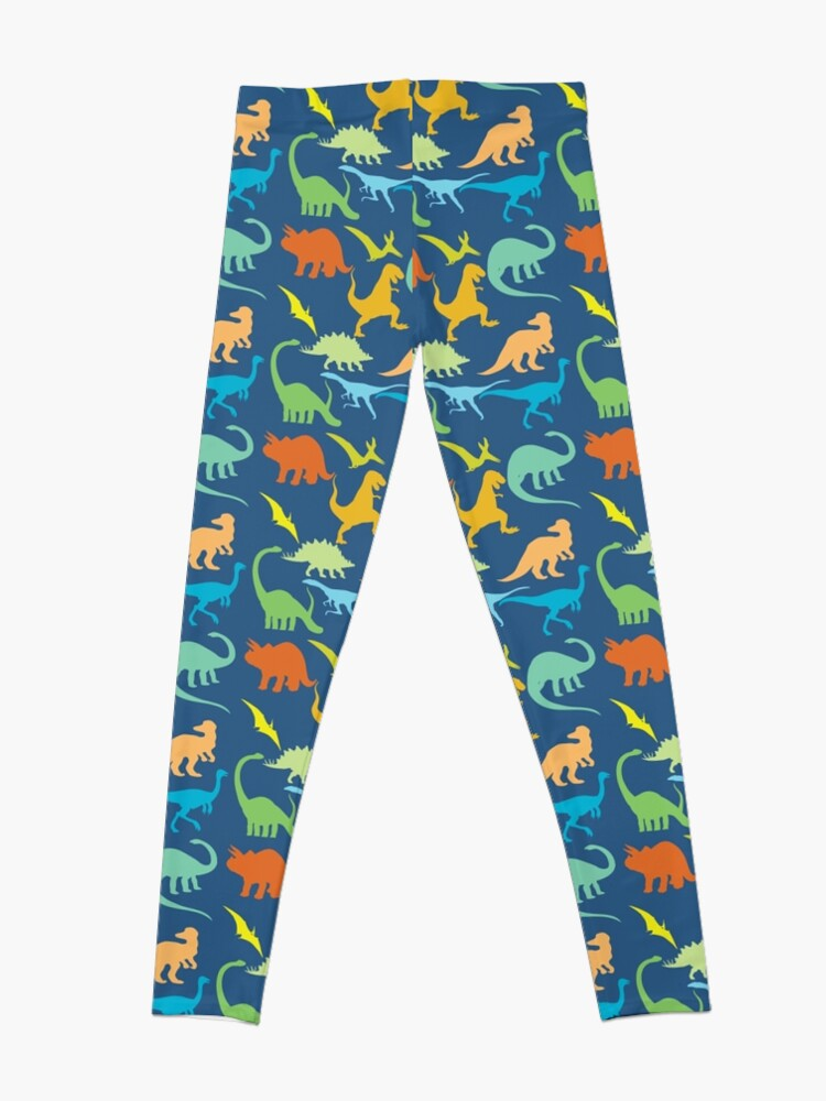 Alternate view of Colorful Dinosaur Pattern  Leggings
