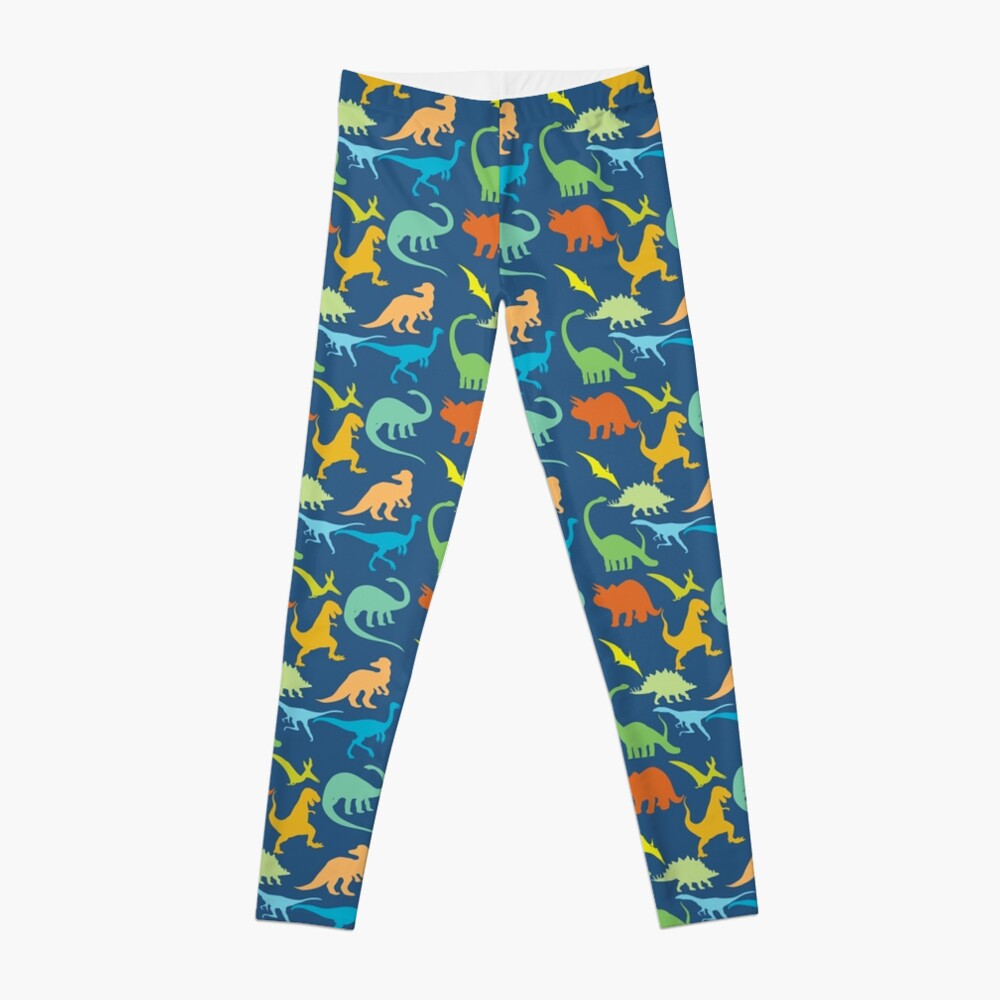 Colorful Dinosaur Pattern  Leggings