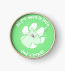 All you need is love and a BOXER - Green Clock