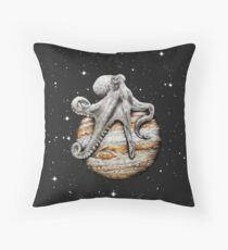 Celestial Cephalopod Throw Pillow