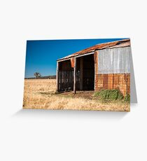 Abandoned outback farming shed in the country Greeting Card