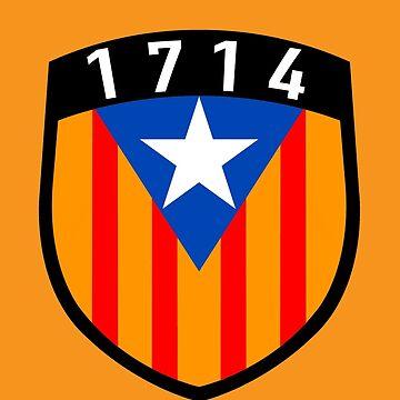 Estelada 1714 Catalunya flag blue by GuitarManArts