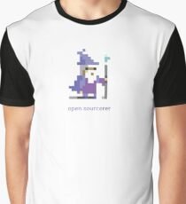 8-bit Open Source Sorcerer - Programming Graphic T-Shirt