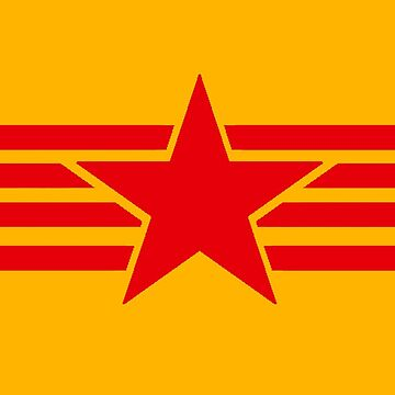 Russia Catalonia communist flag red star by GuitarManArts