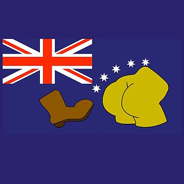 Australia flag boot kickass by GuitarManArts