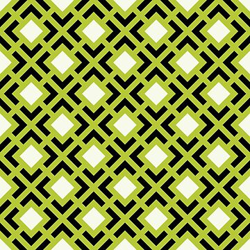 Geometric Pattern: Diamond Bracket: Green by redwolfoz