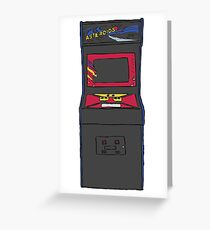 Retro Gamer Asteroids Arcade Cabinet Greeting Card