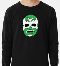 Lucha Libre // Mexican Wrestling Mask Green Demon Lightweight Sweatshirt