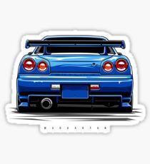 R34 GT-R Sticker