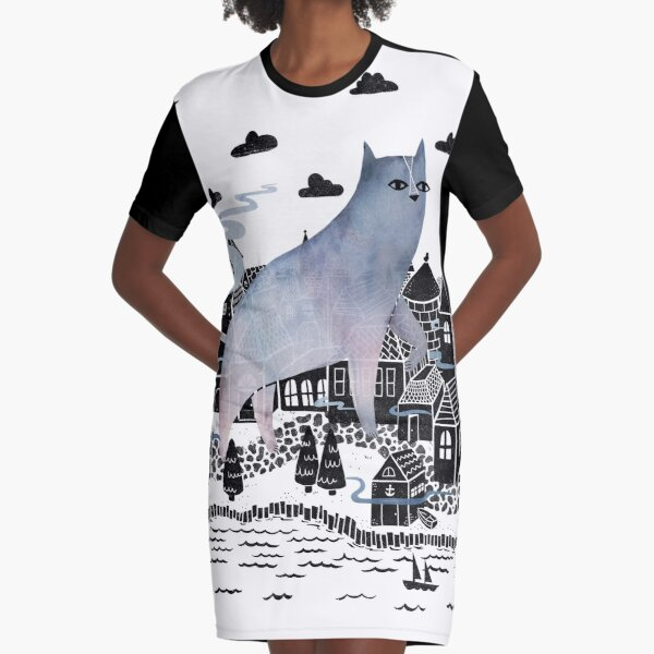 The Fog Graphic T-Shirt Dress