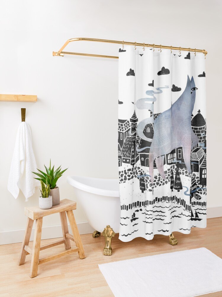 Alternate view of The Fog Shower Curtain